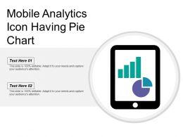 Mobile Analytics Icon Having Pie Chart