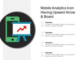 Mobile Analytics Icon Having Upward Arrow And Board