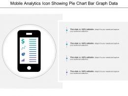Mobile Analytics Icon Showing Pie Chart Bar Graph Data Analytics
