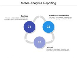 Mobile Analytics Reporting Ppt Powerpoint Presentation Layouts Design Ideas Cpb