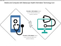 Mobile And Computer With Statoscope Health Information Technology Icon