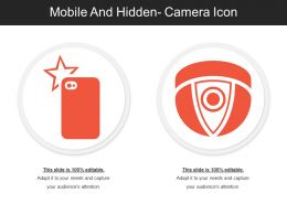 Mobile And Hidden Camera Icon