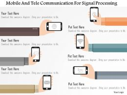 mobile_and_tele_communication_for_signal_processing_flat_powerpoint_design_Slide01