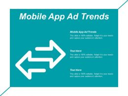 Mobile App Ad Trends Ppt Powerpoint Presentation Infographic Template Graphics Pictures Cpb