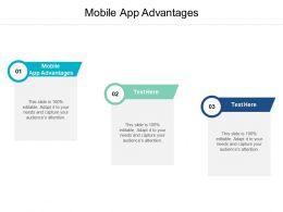 Mobile App Advantages Ppt Powerpoint Presentation Infographics Cpb