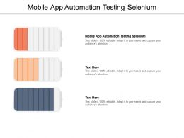 Mobile App Automation Testing Selenium Ppt Powerpoint Presentation Gallery Maker Cpb