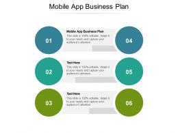 Mobile App Business Plan Ppt Powerpoint Presentation Icon Good Cpb