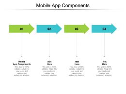 Mobile App Components Ppt Powerpoint Presentation Model Inspiration Cpb
