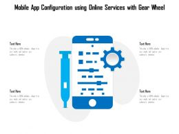 Mobile App Configuration Using Online Services With Gear Wheel