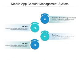 Mobile App Content Management System Ppt Powerpoint Presentation Tips Cpb
