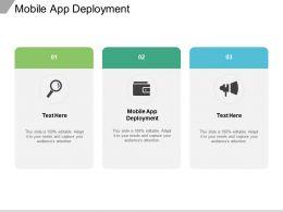 Mobile App Deployment Ppt Powerpoint Presentation Show Templates Cpb