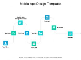 Mobile App Design Templates Ppt Powerpoint Presentation Infographics Pictures Cpb