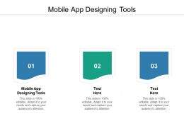 Mobile App Designing Tools Ppt Powerpoint Presentation Designs Cpb