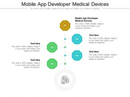 Mobile App Developer Medical Devices Ppt Powerpoint Presentation Icon Cpb