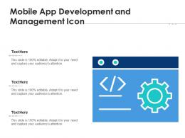 Mobile App Development And Management Icon