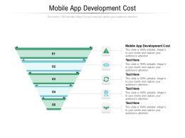 Mobile App Development Cost Ppt Powerpoint Presentation File Mockup Cpb