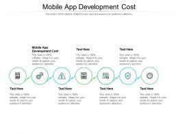 Mobile App Development Cost Ppt Powerpoint Presentation Model Design Ideas Cpb