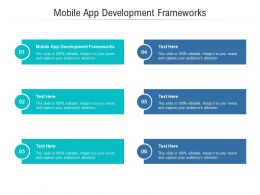 Mobile App Development Frameworks Ppt Powerpoint Presentation Inspiration Cpb
