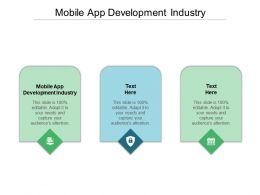 Mobile App Development Industry Ppt Powerpoint Presentation Slides Guide Cpb