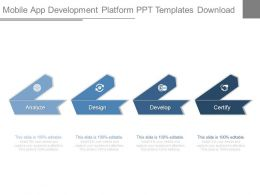 Mobile App Development Platform Ppt Templates Download