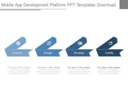Mobile App Development Platform Ppt Templates Download