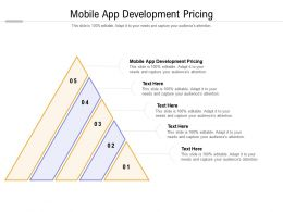 Mobile App Development Pricing Ppt Powerpoint Presentation Professional Skills Cpb