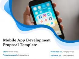 Mobile App Development Proposal Template Powerpoint Presentation Slides
