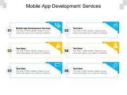 Mobile App Development Services Ppt Powerpoint Presentation Outline Master Slide Cpb