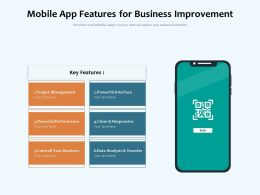 Mobile App Features For Business Improvement