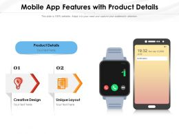 Mobile App Features With Product Details