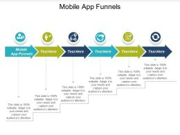 Mobile App Funnels Ppt Powerpoint Presentation Infographic Template Graphics Example Cpb
