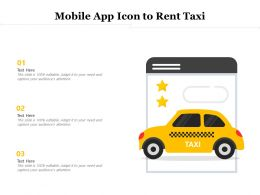 Mobile App Icon To Rent Taxi
