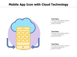 Mobile App Icon With Cloud Technology