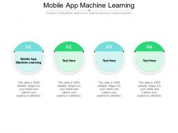 Mobile App Machine Learning Ppt Powerpoint Presentation Pictures Graphics Cpb