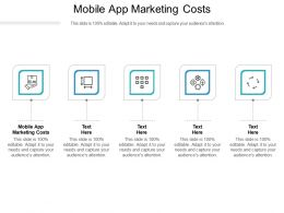 Mobile App Marketing Costs Ppt Powerpoint Presentation Professional Tips Cpb