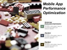 Mobile App Performance Optimization Ppt Powerpoint Presentation Infographic Template Graphics Cpb
