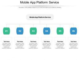 Mobile App Platform Service Ppt Powerpoint Presentation Outline Graphic Images Cpb