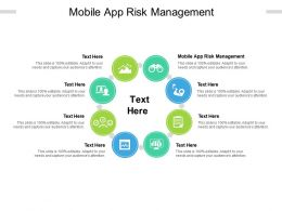 Mobile App Risk Management Ppt Powerpoint Presentation Icon Templates Cpb