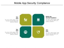 Mobile App Security Compliance Ppt Powerpoint Presentation Visual Aids Cpb