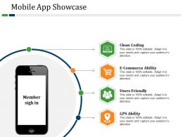 Mobile App Showcase Powerpoint Slide Deck Samples