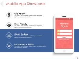 Mobile App Showcase Powerpoint Slides