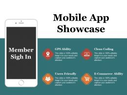 Mobile App Showcase Ppt Examples Professional