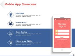 Mobile App Showcase Ppt Pictures Design Ideas