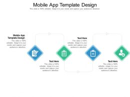 Mobile App Template Design Ppt Powerpoint Presentation Summary Deck Cpb