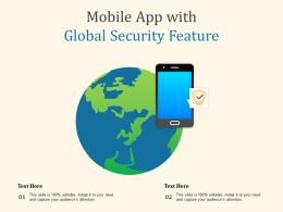 Mobile App With Global Security Feature