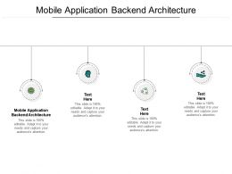 Mobile Application Backend Architecture Ppt Powerpoint Presentation Model Graphics Cpb