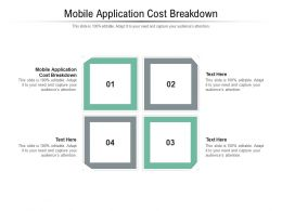 Mobile Application Cost Breakdown Ppt Powerpoint Presentation Cpb