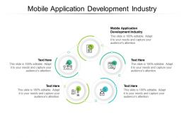 Mobile Application Development Industry Ppt Powerpoint Presentation Infographics Files Cpb