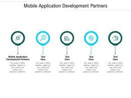 Mobile Application Development Partners Ppt Powerpoint Presentation Portfolio Example Cpb