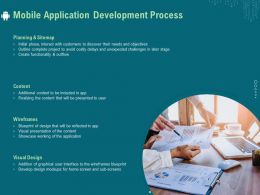 Mobile Application Development Process Ppt Infographics